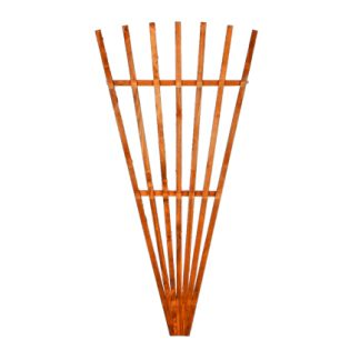 brown fan trellis