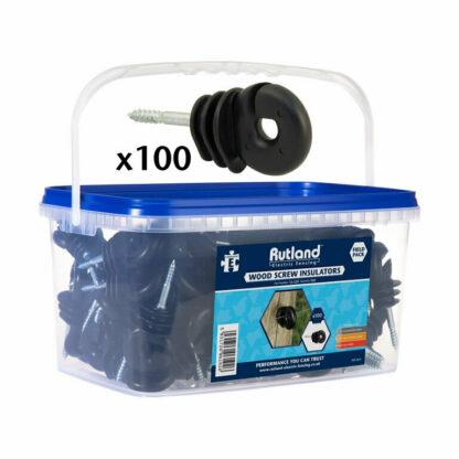 RUTLAND Woodscrew Insulators (pack of 100)