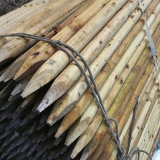 Wooden Stakes and Round Rails