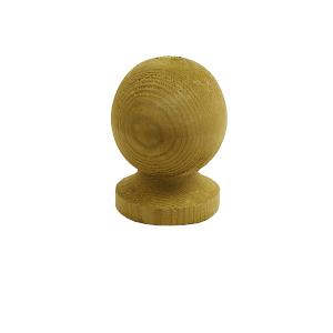 wooden ball post cap finial