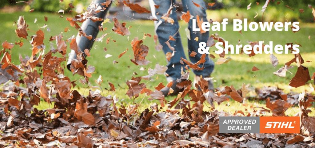 leaf blower banner